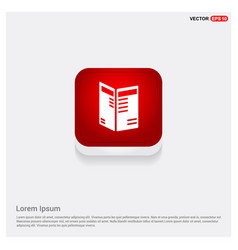 business newspaper icon vector image