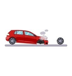 Car and Transportation Issue with a Wheel vector image