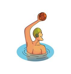 cartoon design of professional sportsman vector image
