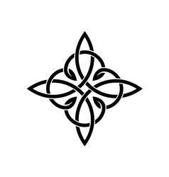 Celtic knots elegant cross weaven tattoo template vector