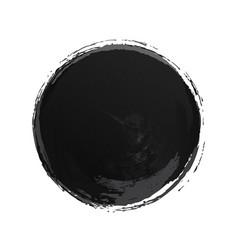circle watercolor texture black color vector image