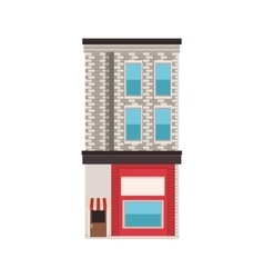 City building icon vector