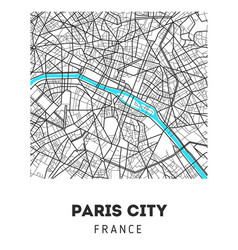 city map of paris city vector image