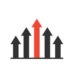 Competitive advantage icon vector