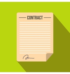 Contract icon in flat style vector image