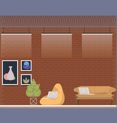 creative coworking center studio interior design vector image