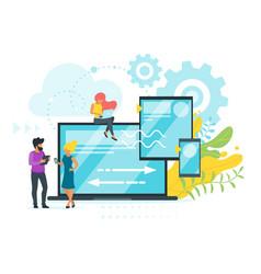 cross platform concept design vector image