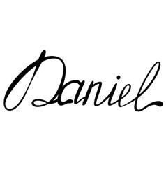 Daniel name lettering vector