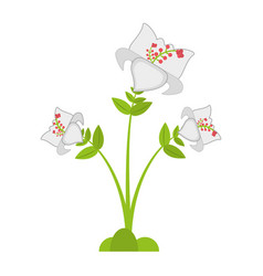 Daylily flower branch decoration vector