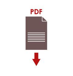 download icon pdf vector image