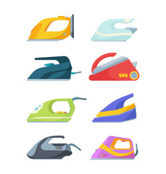 electric irons set modern ironing and drying vector image