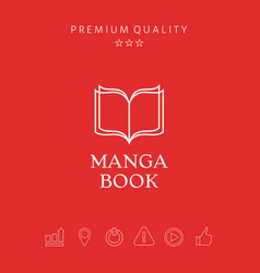 Elegant logo with book symbol with pages vector