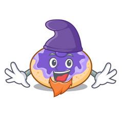 Elf donut blueberry character cartoon vector