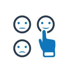 emoji feedback icon vector image