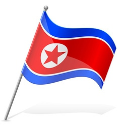 flag of North Korea vector image