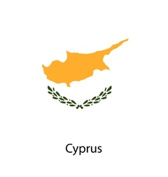 Flag of the country cyprus vector image