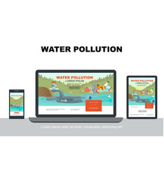 flat water pollution adaptive design concept vector image