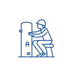 foreman line icon concept foreman flat vector image