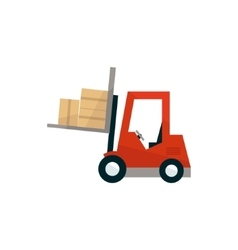 Forklift Machine Loading The Boxes vector image