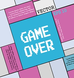 Game over concept icon sign Modern flat style for vector image