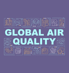 Global air quality word concepts banner vector