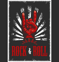 hand in rock n roll sign vector image