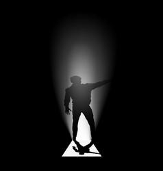human silhouette door vector image