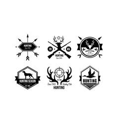 Hunting season logo wildlife travel adventure vector