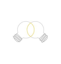 Icon concept unite ideas grey light bulbs vector