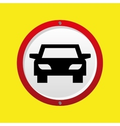 Insurance car hand holding icon graphic vector