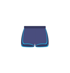 Isolated gym pants flat design vector