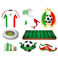 Italy soccer vector image