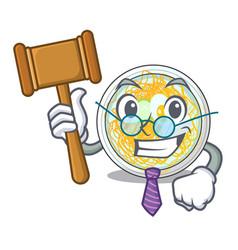 Judge naengmyeon in a shape cartoon vector