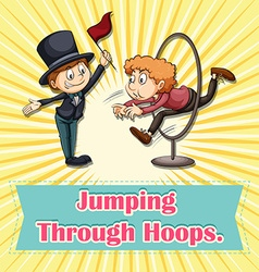 Jumping through hoops vector
