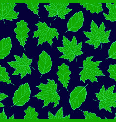 Leaves seamless green vector