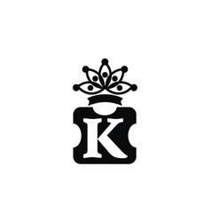 Letter k crown vector