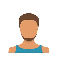 man user icon flat vector image