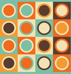 mid-century modern seamless pattern geometric vector image