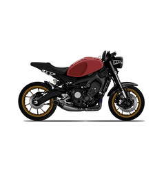 motorcycle sport side view vector image