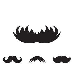 Mustache icon vector
