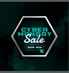 online cyber monday shopping sale background vector image