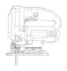 outline jig saw vector image