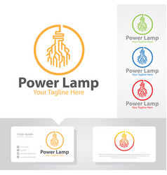 power tech logo designs vector image