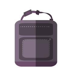 Purple backpack hike traveler shadow vector
