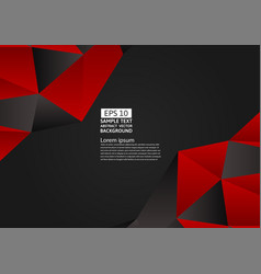 Red and black color polygon abstract background vector