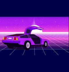 retro violet car vector image