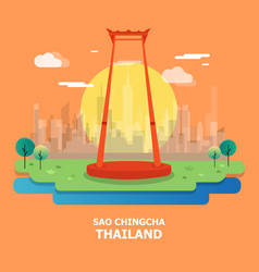 sao chingcha famous tourist attraction in vector image