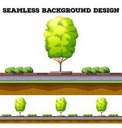 Seamless background with tree on the road vector
