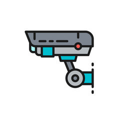 security camera cctv safety home protection vector image