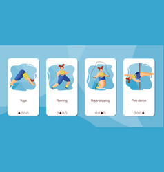 set mobile app page design screen set on vector image